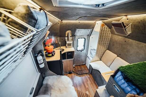 Adventure camping truck campers