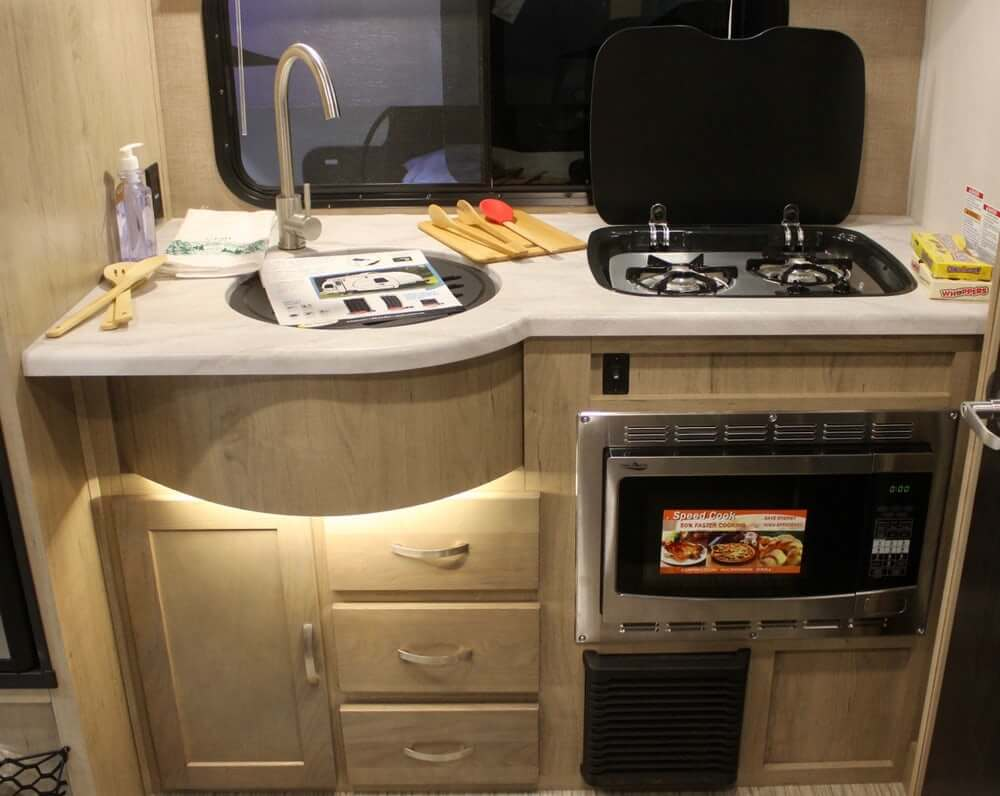 Microwave Inside Small RV