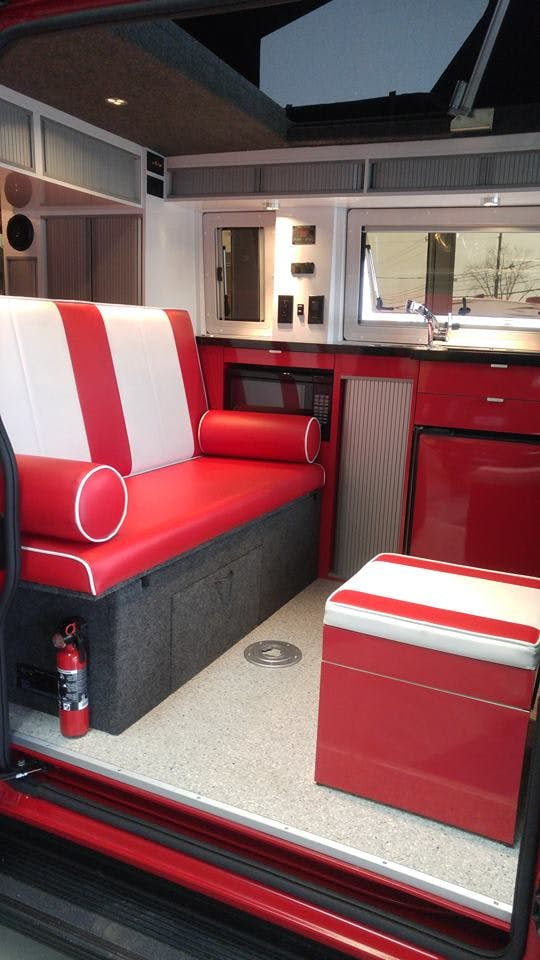 Imagine Campervan Interior Red