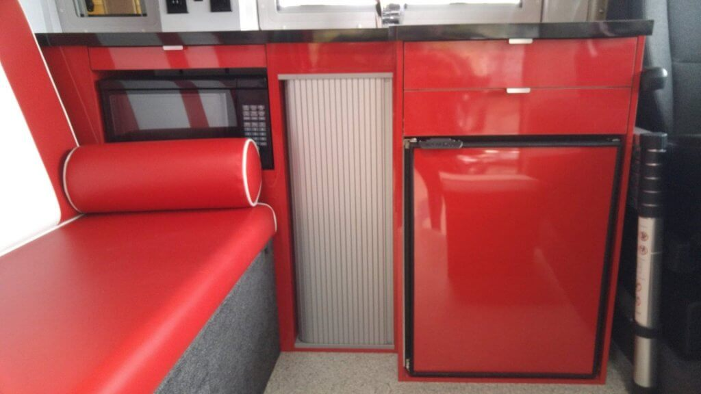 Campervan with 50's diner interior design