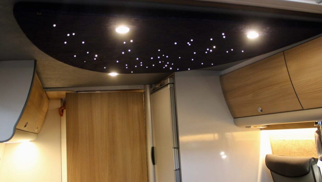 camper van ceiling with stars
