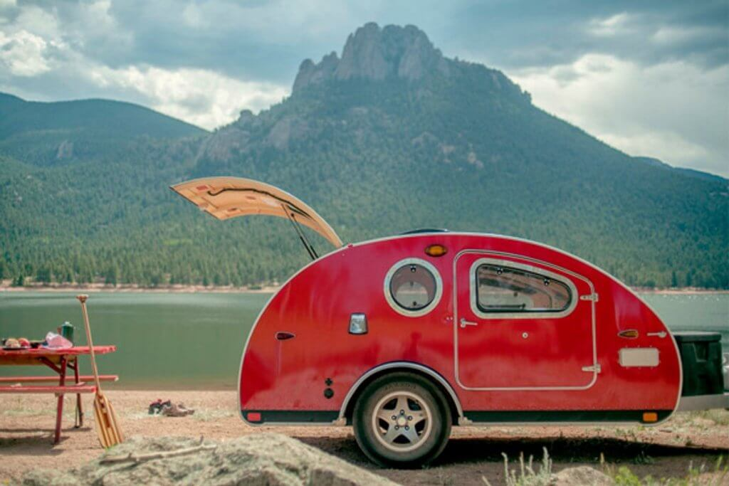 vista bule teardrop trailer RV