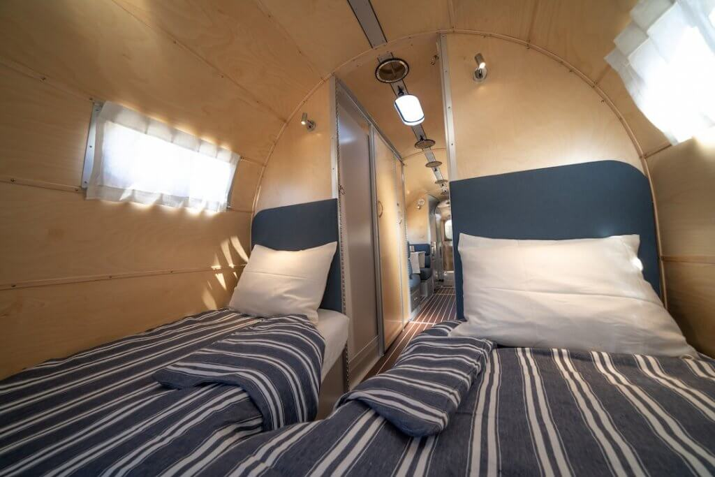 Wave Bespoke Travel Trailer Looks Like a Yacht Inside