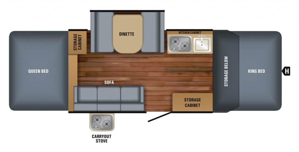 Jayco Fold Down Camper floorplan