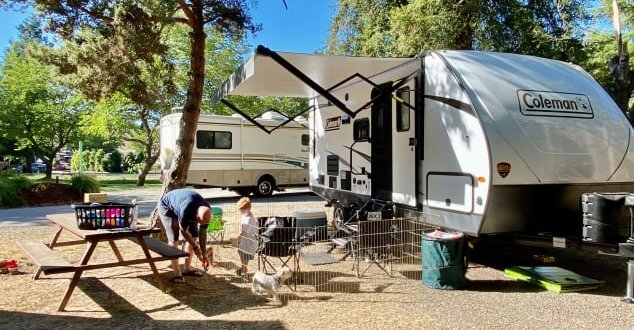 travel trailer camp site