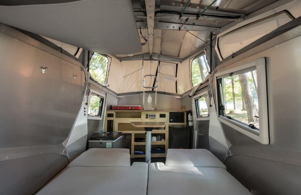 cricket fold down camper trailer interior