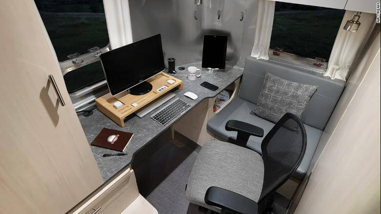 Airstream RV with home office